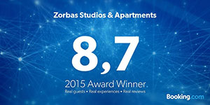 ZORBAS HOTELS APARTMENTS Awarded 2015