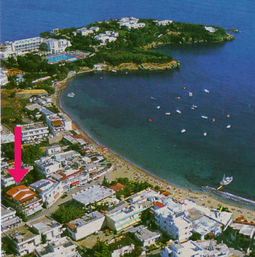 Zorbas hotel apartments location in Agia Pelagia Crete Island
