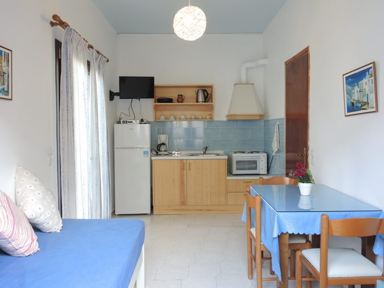 Apartments kitchen - hotel apartments in Agia Pelagia